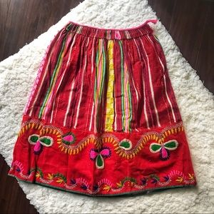 Vintage Mexican Embroidered Circle Skirt